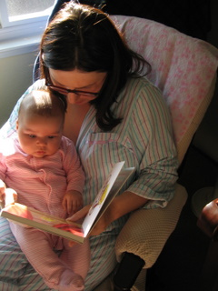 Ari and Mommy reading
