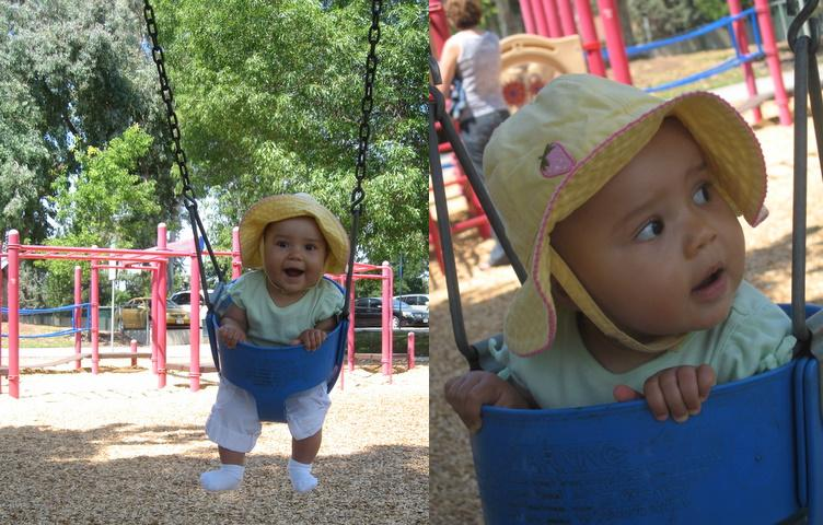 Fun on the swing