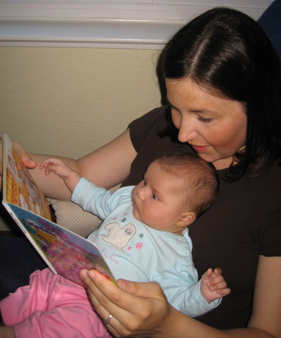 Mommy reading to Ari