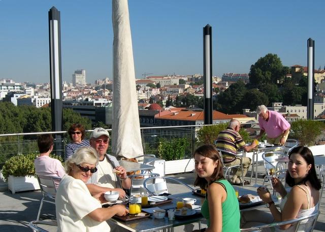 Rooftop breakfast at Hotel Eden