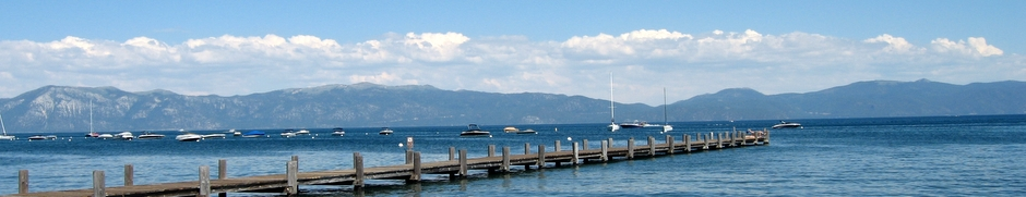 HORIZONTAL SLICE: Lake Tahoe Pier