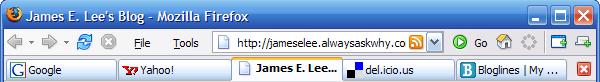 Firefox active tab default