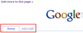 SCREENSHOT: Google Personalized Homepage Add Tab