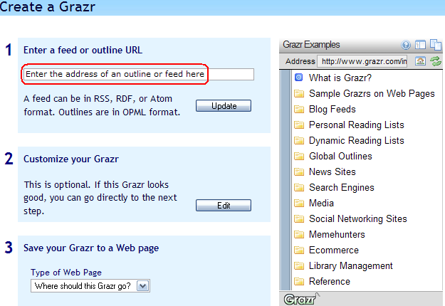 SCREENSHOT: Grazr as service