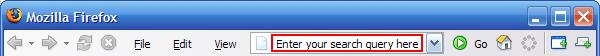 Firefox search from address bar